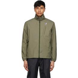 Engineered Garments Khaki K-Way Edition Packable Crepin 3.0 Jacket K81184W X7Q