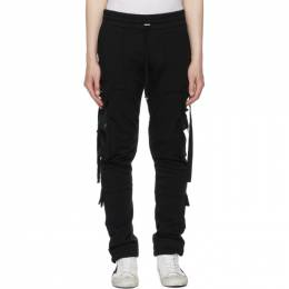Amiri Black Tactical Cargo Pants MJSP010-001