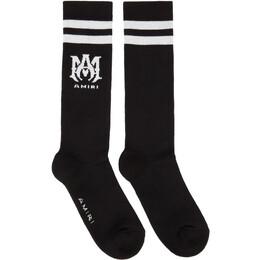 Amiri Black MA Athletic Socks MHR003-001