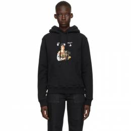 Off-White Black Caravaggio Boy Slim Hoodie OMBB074S21FLE0021001