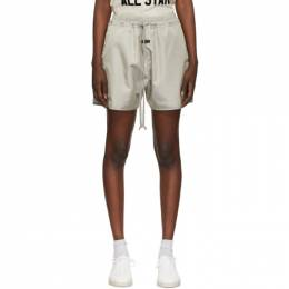 Fear Of God Grey Iridescent Track Shorts FG40-024ITW