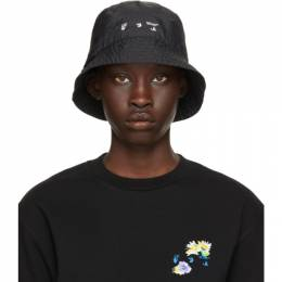 Off-White Black Logo Bucket Hat OMLA012S21FAB0011001