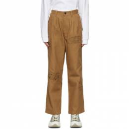 Brain Dead Khaki Whips and Chains Trousers BDP21B09001804BR07