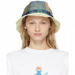 Brain Dead Off-White Colorblocked Nigel Bell Bucket Hat BDP21H02001612WH04