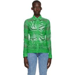 Ganni Green Lace Shirt F5931