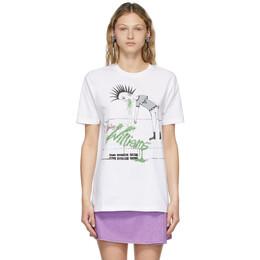 Ashley Williams White Vomit T-Shirt AWSS21128