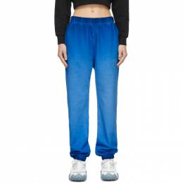 Opening Ceremony Blue Faded Rose Crest Lounge Pants YWCH003S21FLE0014747