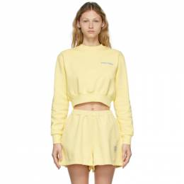 Opening Ceremony Yellow Word Torch Cropped Sweatshirt YWBA010S21FLE0011740