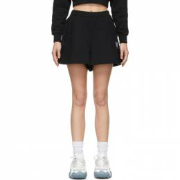 Opening Ceremony Black Warped Logo Sweat Shorts YWCI001S21FLE0021101