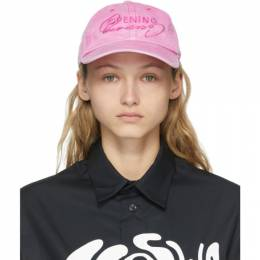 Opening Ceremony Pink Faded Logo Trucker Cap YWLB005S21FAB0013030