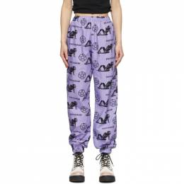 Ashley Williams Purple Pentagram Tropic Lounge Pants AWSS21007
