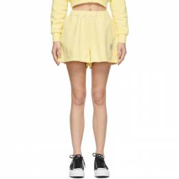 Opening Ceremony Yellow Warped Logo Sweat Shorts YWCI001S21FLE0021701