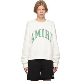 Amiri White Varsity Sweatshirt MJSC001