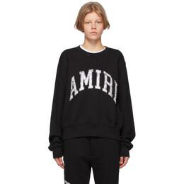 Amiri Black Varsity Sweatshirt MJSC001