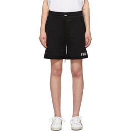 Amiri Black Core Logo Shorts MJSS001