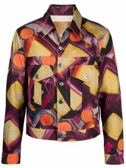 Vivienne Westwood джинсовая куртка с абстрактным принтом 3901000611977DE