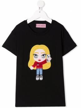 Chiara Ferragni Kids футболка с логотипом CFKT033