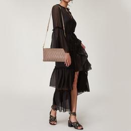 Miu Miu Beige Matelasse Leather Shoulder Bag 425189