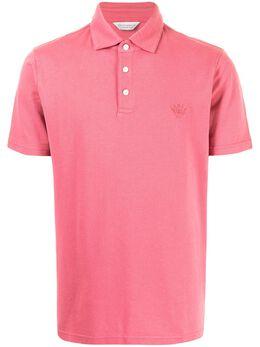 Gieves & Hawkes рубашка поло с вышитым логотипом G4100061I073
