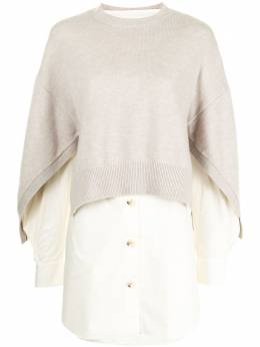 Enfold рубашка с трикотажной вставкой 300ES2700900