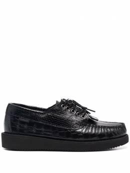 Sebago туфли на шнуровке с тиснением под кожу змеи 77113FW005