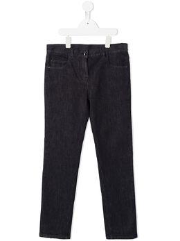Moncler Enfant джинсы с нашивкой-логотипом 9542A7101054AMY