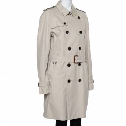 Burberry Beige Cotton Belted Double Breasted Trench Coat XL 427079