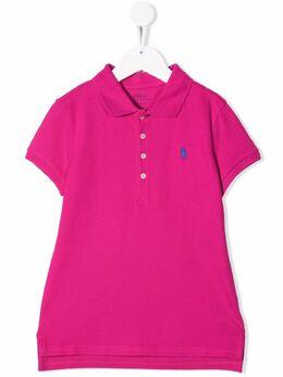 Ralph Lauren Kids рубашка поло с вышитым логотипом 313698589