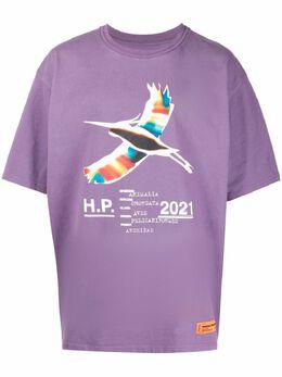 Heron Preston футболка с графичным принтом HMAA026S21JER0023501