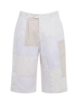 Cotton Blend Canvas & Nylon Shorts Junya Watanabe 73I66G017-MQ2