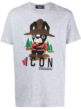 Dsquared2 футболка с графичным принтом S79GC0034S22146