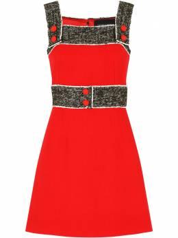 Dolce&Gabbana креповое платье с твидовыми вставками J6125TFU2TZ