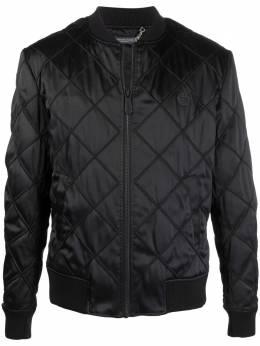Philipp Plein стеганая куртка-бомбер FAACMRB1710PTE003N