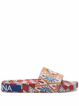 Dolce&Gabbana шлепанцы с принтом CW0109AJ756