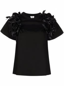 Comme Des Garcons Noir Kei Ninomiya футболка с бантами 3GT014