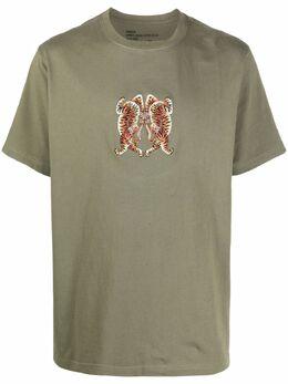 Maharishi футболка из органического хлопка с вышивкой Heart of Tigers 2063