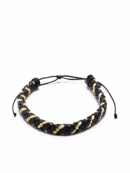 Saint Laurent interwoven leather bracelet 649409DXS6B