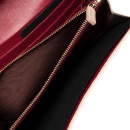 Bvlgari Beige Leather Logo Clip Continental Wallet 428881