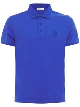 Logo Cotton Polo Moncler 73IMJ6078-NzA40