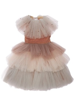 Tulle Party Dress W/ Attached Collar Nikolia 73IW4K008-T1JJR0lOQUw1