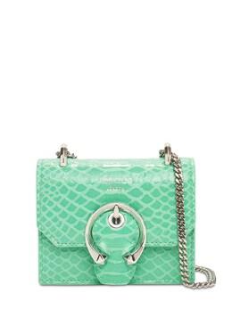 Mini Paris Gel Snake Printed Leather Bag Jimmy Choo 74IG33015-TUlBTUk1
