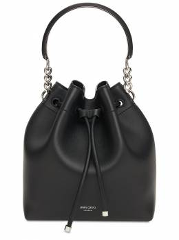 Bon Bon Leather Bucket Bag Jimmy Choo 74IG33001-QkxBQ0svU0lMVkVS0