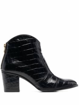 Zadig & Voltaire Molly crocodile-effect leather boots SKAK1705F