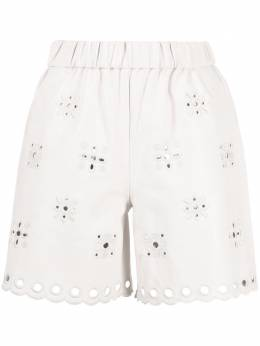 Red Valentino broderie lambskin shorts VR0NH01C5W6