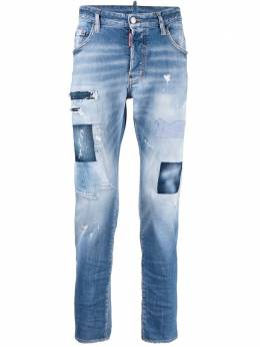 Dsquared2 джинсы скинни с эффектом потертости S74LB0975S30664