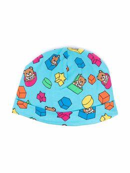 Moschino Kids bear-motif cotton beanie MUX03HLBB53