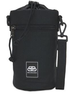 Logo Nylon Bottle Holder Bag Balenciaga 73IROX033-MTAwMA2