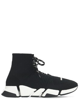 Speed 2.0 Knit Lace Up Sneakers Balenciaga 73IROW034-MTAxNQ2