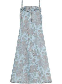 Ganni x Levi's® oversized floral print dress F6091