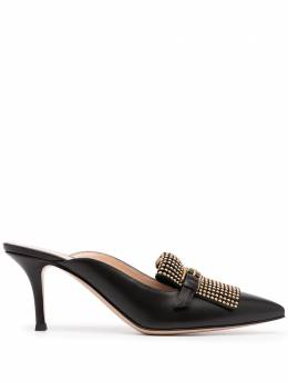 Gianvito Rossi studded point-toe mules G9242070RICVTM
